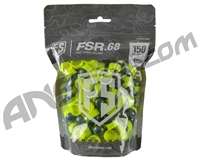 Tiberius Arms First Strike Paintballs 150 Count - Smoke/Yellow Shell - Yellow Fill