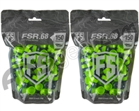 Tiberius Arms First Strike Paintballs 300 Count - Smoke/Green Shell - Green Fill