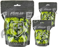 Tiberius Arms First Strike Paintballs 450 Count - Smoke/Yellow Shell - Yellow Fill