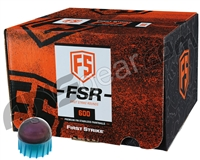 Tiberius Arms First Strike Paintballs 600 Count w/ Free Velcro Patch - Smoke/Blue Shell - Pink Fill