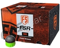 Tiberius Arms First Strike Paintballs 600 Count - Smoke/Green Shell - Green Fill