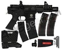 First Strike T15 Machine Pistol Paintball Gun w/ (2-Pack) V2 20 Round Magazines FREE