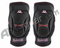 GI Sportz Paintball Knee Pads - Black/Red