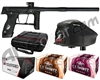 GI Sportz Stealth Paintball Gun w/ Empire Prophecy Z2 Loader & 1 Case Of Tournament Paint - Black/Black