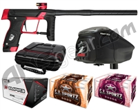 GI Sportz Stealth Paintball Gun w/ Empire Prophecy Z2 Loader & 1 Case Of Tournament Paint - Black/Red