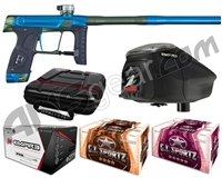 GI Sportz Stealth Paintball Gun w/ Empire Prophecy Z2 Loader & 1 Case Of Tournament Paint - Blue/Green