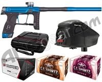 GI Sportz Stealth Paintball Gun w/ Empire Prophecy Z2 Loader & 1 Case Of Tournament Paint - Blue/Grey