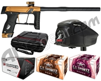 GI Sportz Stealth Paintball Gun w/ Empire Prophecy Z2 Loader & 1 Case Of Tournament Paint - Sand/Black