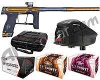 GI Sportz Stealth Paintball Gun w/ Empire Prophecy Z2 Loader & 1 Case Of Tournament Paint - Sand/Grey