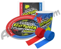 Gotcha Paintball Party Kit - 10 Plates, 10 Cups & 20 Napkins