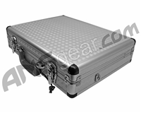 Aluminum Diamond Plate Gun Case w/ Keyed Locks - Silver