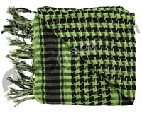 Gen X Global Special Forces Head Wrap Checkers - Lime Green