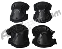 Gen X Global Tactical Elbow & Knee Pad Set - Black