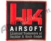 HK Airsoft Square Velcro Patch
