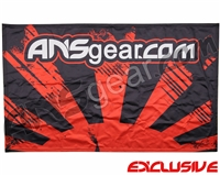 "HK Army ANSGEAR Banner - 41"" x 26"" - Rising Sun Black/Red"