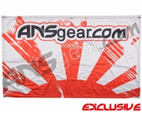 "HK Army ANSGEAR Banner - 41"" x 26"" - Rising Sun White/Red"