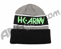 HK Army Attack Beanie - Black/Neon Green