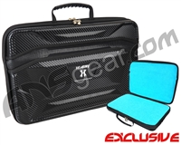 HK Army XL Exo Carbon Paintball Gun Case - Black w/Teal Liner