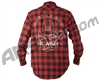 HK Army Collide Button Up Flannel - Red