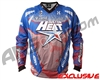 HK Army Freeline Paintball Jersey - Houston Heat Away (Blue/Red)