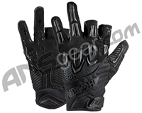 HK Army Armored Half Finger Paintball Gloves - Blackout