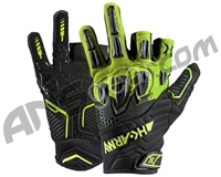 HK Army Armored Half Finger Paintball Gloves - Energy