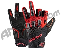 HK Army Armored Half Finger Paintball Gloves - Fire