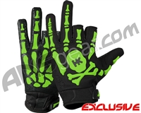 HK Army Bones Paintball Gloves - Black/Green