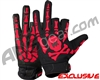 HK Army Bones Paintball Gloves - Black/Red