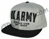 HK Army Snap Back Varsity Hat - Grey/Black