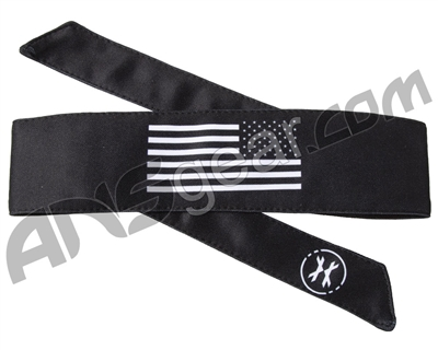 HK Army Headband - USA Flag Black