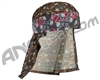 HK Army Hostilewear Headwrap - Tan/Red Skulls/Tan Skull Mesh