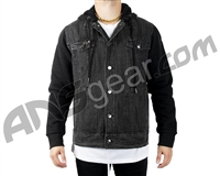 HK Army Collide Denim Jacket w/ Hood - Black