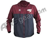 HK Army Houston Heat Zip Up Windbreaker Jacket - Navy Blue/Maroon