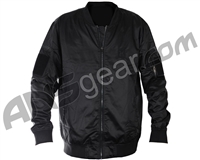 HK Army Midnight Zip Up Bomber Jacket - Black