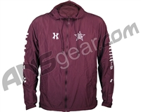 HK Army Russian Legion Zip Up Windbreaker Jacket - Maroon