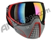 HK Army KLR Paintball Mask - Slate Black/Red