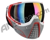 HK Army KLR Paintball Mask - Slate White/Red