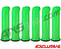 HK Army (6 Pack) 150 Round Skull Paintball Pod - Lime