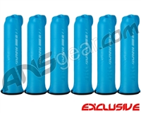 HK Army (6 Pack) 150 Round Skull Paintball Pod - Teal