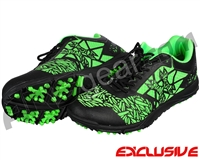 HK Army Shredder 2 Paintball Cleats - Black/Green