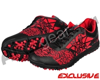 HK Army Shredder 2 Paintball Cleats - Black/Red
