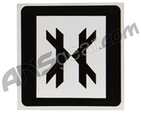 HK Army Square Sticker - Black/White