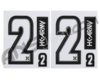 HK Army Number Sticker Pack - 2