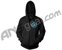 HK Army Authentic Zip-Up Hooded Sweatshirt - Black