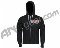 HK Army Bones Zip-Up Hooded Sweatshirt - Black