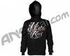 HK Army Inked Pull Over Hooded Sweatshirt - Black