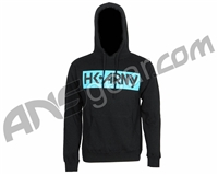 HK Army Posted Pull Over Hooded Sweatshirt - Black