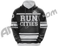 HK Army Run Cities Pull Over Hooded Sweatshirt - Black
