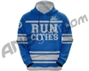 HK Army Run Cities Pull Over Hooded Sweatshirt - Blue